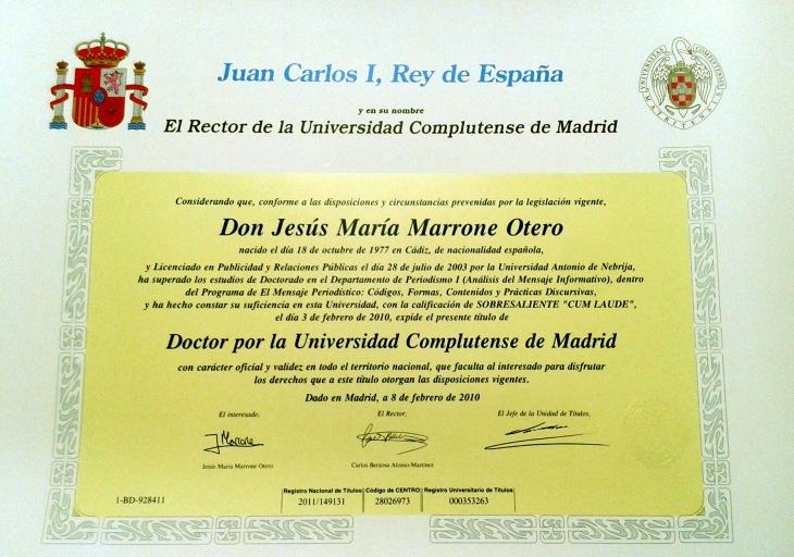 titulo-doctor-periodismo-jesus-marrone