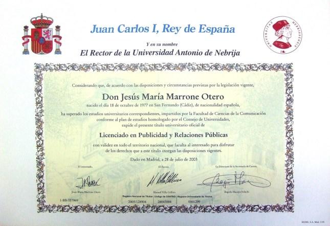 titulo-licenciado-publicidad-relaciones-publicas-jesus-maria-marrone-otero